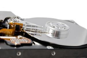 unidad de disco duro analizada aislada foto