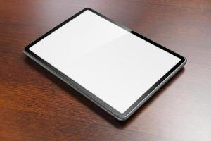 Tablet on table