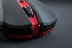 Wireless mouse close up