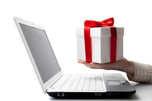 giving a gift online photo