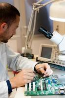 medición de señal electrónica de pcb foto