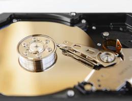 Inside of hard drive photo
