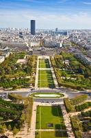 Field of Mars. Top view. Paris. France photo