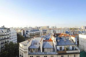 Skyline of Paris with roofs