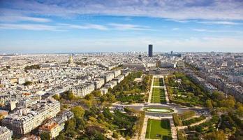 Field of Mars. Top view. Paris. France