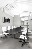 sala de reuniones interior de oficina moderna vacía foto