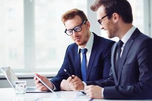 Businessmen at work photo