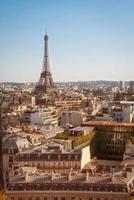 París, tour eiffel al atardecer foto