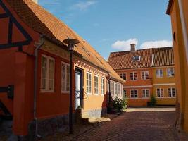 Colored traditional Danish houses