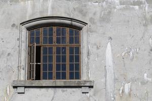 janela de vidro velho