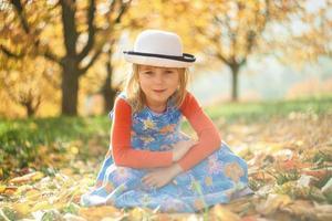 Autumn portrait photo