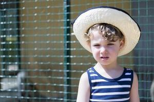 retrato de chico de granja