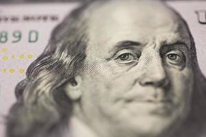 dollar portrait Franklin