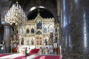 interior de la catedral de uspensky en helsinki foto