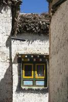 Multicolor window in the streets of Lo Manthang, Mustang