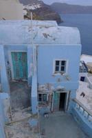 Traditional Greek door at Santorini Island