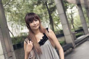 mujer moderna asiática foto