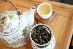 tazas de té asiático foto