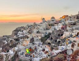 Beautiful Oia village sunset in Santorini