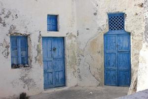 Blue doors and windows in Greece