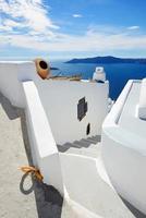 la casa en la isla de santorini, grecia