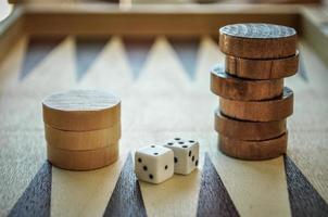 backgamon and dices photo