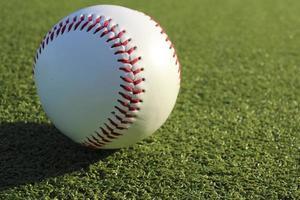Baseball ball and the ground photo