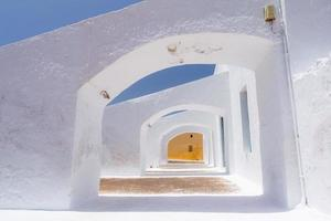 Detalles del edificio en santorini, grecia foto