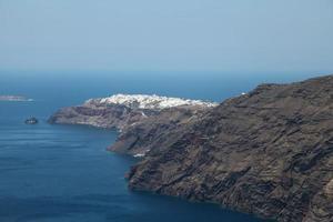 Oia on Santorini island in the Cyclades photo