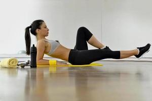 mujer hermosa fitness foto