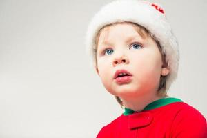 retrato de niño de navidad foto