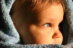retrato de criança - perfil