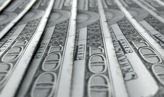 opgesteld close-up bankbiljetten