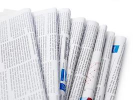 close-up de jornais
