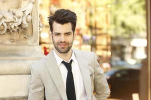 Modern businessman portrait photo