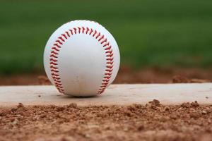 Baseball on the mound photo
