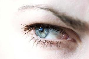primer plano del ojo