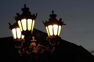 Close-up streetlamps photo