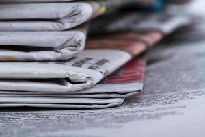 Close Up Newspapers photo