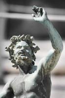 close-up da estátua