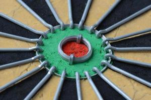 tablero de dardos de cerca foto