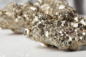 Pyrite close-up