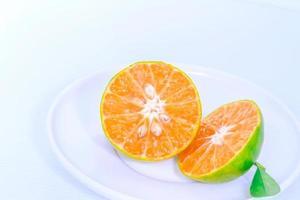 naranja fresca. foto