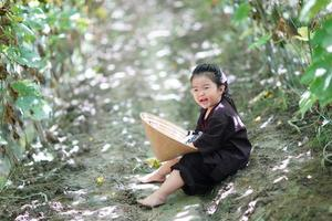 Retrato de niño granjero foto