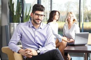 Young businessman portrait photo