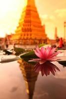 THAILAND BANGKOK WAT PHRA KAEW LOTUS FLOWER photo