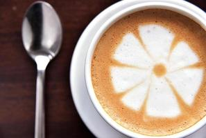 Enjoying cappuccino