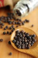 Dried black pepper seeds photo