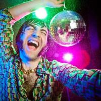 disco dance happy vintage man enjoy party