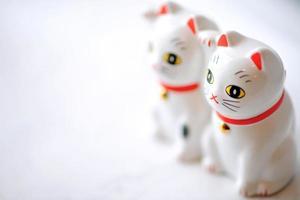 gato de la suerte (maneki neko) pareja